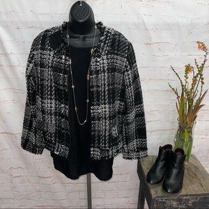 Valerie bertinelli zip up crop jacket women's XL